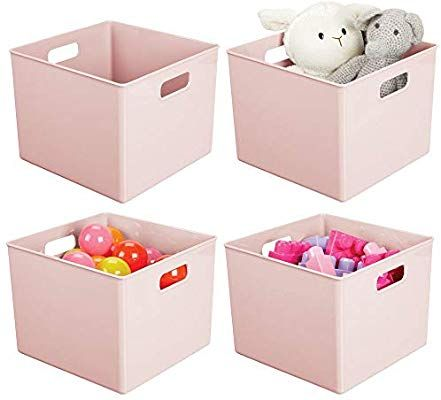Amazon Com Mdesign Plastic Home Storage Organizer Bin For Cube Furniture Shelving In Office Entryway Cl Toy Rooms Cube Furniture Home Storage Organization