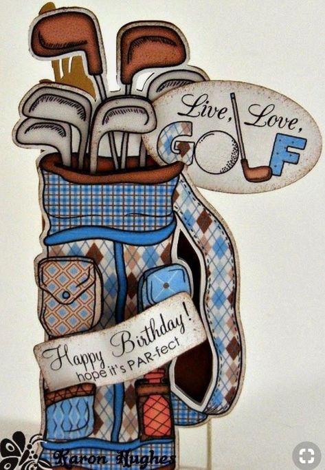 70 Idees De Golf Anniversaire Golf Peinture De Golf Cartes