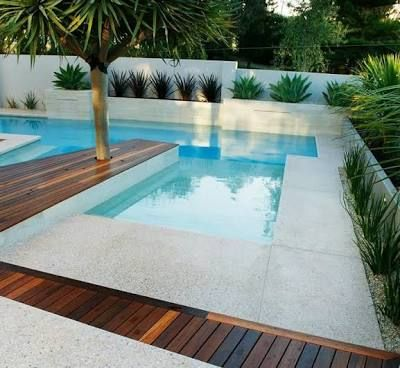 Image result for swimming pool surrounded by white cement - aquilus piscine villefranche de rouergue