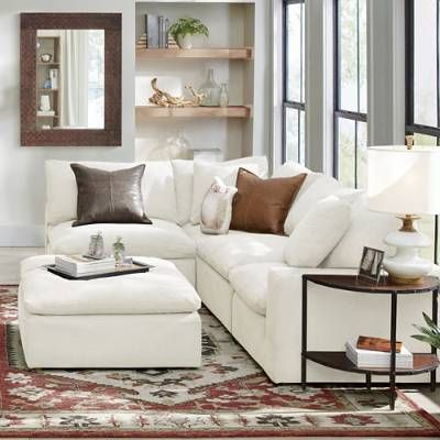 Small Space Fabric Sectional Slipcovered Soft Living Solution S Sectional Living Room Small Small Sectional Sofa Small Sectional