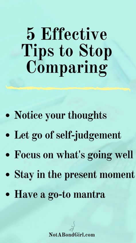 5 Effective Tips to Stop Comparing | Wellness | Mental Health | Spirituality