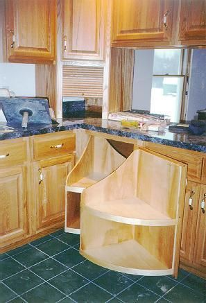 Swivel out cabinets for those hard to reach back spaces ...