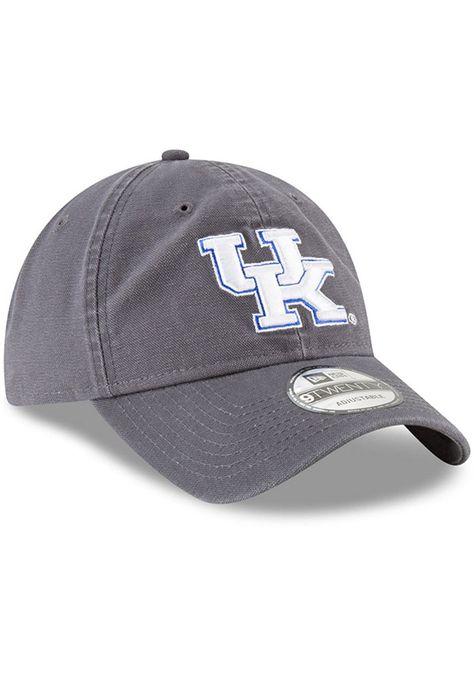 best loved 25827 6fd0e New Era Kentucky Wildcats Mens Grey Core Classic 9TWENTY Adjustable Hat,  Grey, 100% COTTON, Size ADJ