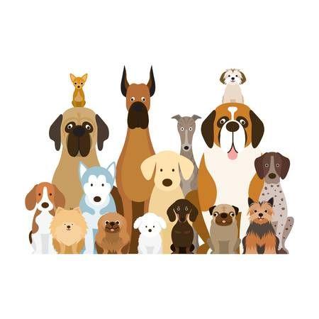 Image Result For Clipart Group Of Dogs Group Of Dogs Pet Logo Design Dog Illustration