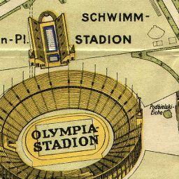 Stadtplan Von Olympiade Berlin 1936 1936 Landkartenarchiv De