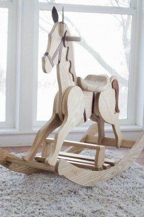 Wooden Rocking Horse Kit Kamar Anak Kayu Kerajinan Kayu
