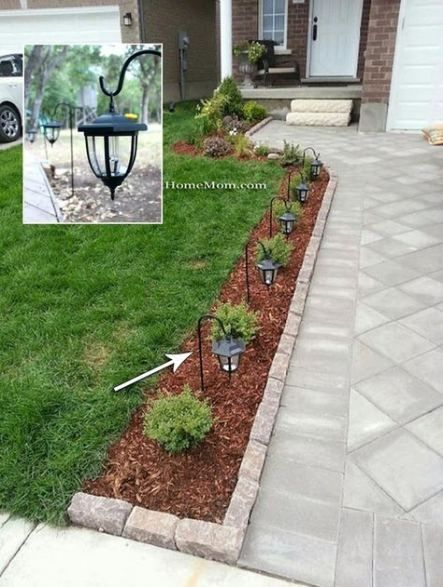 49 Ideas Landscaping Ideas Front Yard With Porch Solar Lights