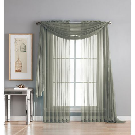 Curtis Sheer Single Panel Window Scarf Panel Curtains Scarf Curtains Curtains