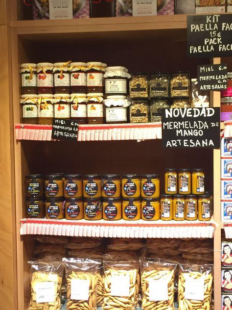 En Mercado San Miguel Madrid Mermelada De Mango Paella Y San