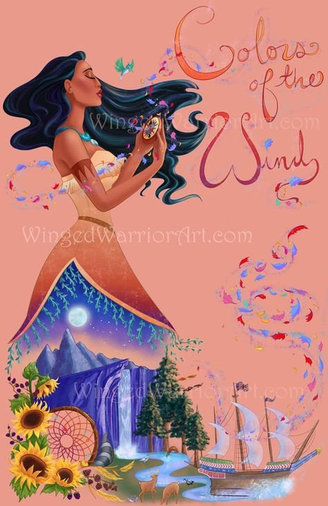 Bring all the colors of the wind home with this Pocahontas print! This is an 11x17 print on high-quality semi-gloss cardstock, full bleed. Watermark will NOT be on the printed version. Shipped in a protected sleeve in between cardboard backing or in a hard poster tube, guaranteed to g...