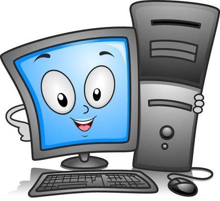 Ilustracion De Un Equipo Monitor Celebrar Una Cpu Cerrar Computadora Para Ninos Clases De Computacion Imagenes De Profesores