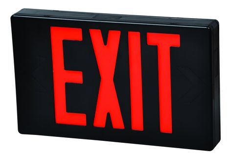 Thermoplastic Led Exit Sign Exit Sign Emergency Exit Signs Red Led