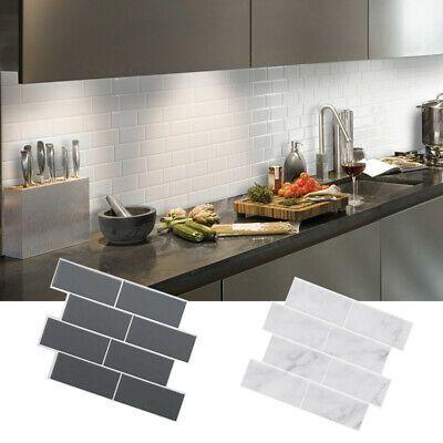 DIY Self Adhesive 3D Sticker Brick Tile Peel Stick Kitchen Wall Sticker Subway