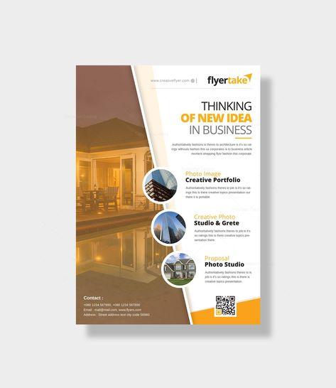 Cincinnati Modern Business Flyer Design Template - Graphic Templates