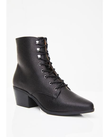 Catser Leather Ankle Boots