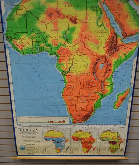 Africa: School Map | Vintage research | Pinterest