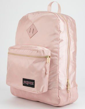 JANSPORT Super FX Rose Smoke & Gold Backpack | School in