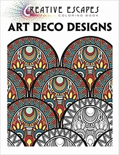 Art Deco Coloring Book Art Therapy Best Of Creative Escapes Coloring Book Art Deco Designs Racehorse Art Deco Colors Coloring Book Art Book Art