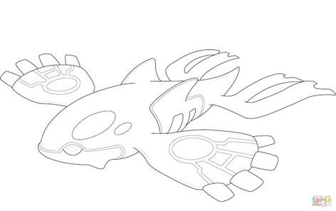 Pokemon Kyogre Coloring Pages Printable Coloring Book Kyogre