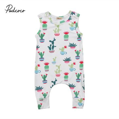789d576dd90 Pudcoco Toddler Infant Baby Clothing Boy Girls Romper Sleeveless Jumpsuit  Outfit Summer Cute Baby Clothes Sunsuit