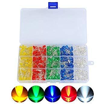 100 x Verkabelte Dioden LED Plastik Halterung RGB Fast Flash Klare Linse 24V 5mm