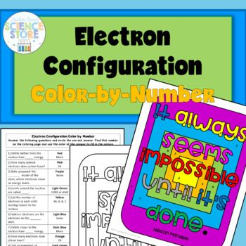 Electron Configuration Color By Number General Science