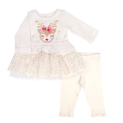 Nannette Baby Boys Holiday 2 Pair Pants 0-3M New