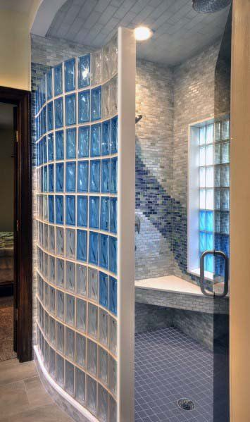 Top 50 Best Glass Block Ideas Obscured Light Designs Bathroom Design Layout Glass Brick Glass Block Shower Wall