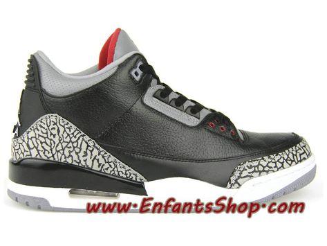 best service 42fdf 82f21 Air Jordan 3(III) 2011 Release Chaussures Nike Basket Pas Cher Pour Homme  Noir 136064-010