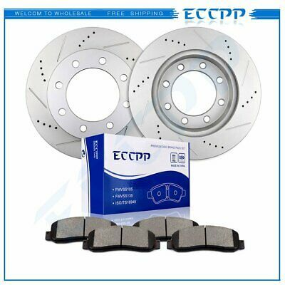 Sponsored Ebay Front Brake Rotors Ceramic Pads Drill Slot For 2005 2012 Ford F 350 Super Duty In 2020 Bmw 323i Front Brakes Chevrolet Trailblazer