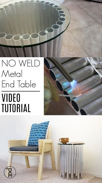 No Weld Metal Glass End Table Diy Furniture Projects Glass