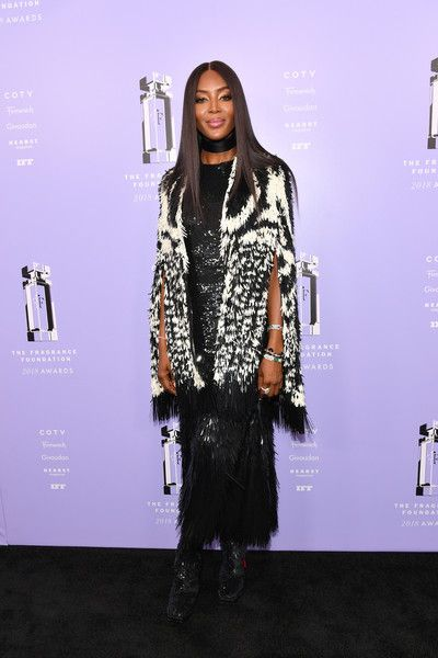 Model, Presenter Naomi Campbell attends the 2018 Fragrance Foundation Awards at Alice Tully Hall.