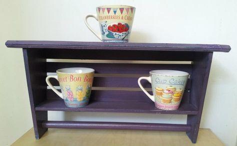 Wooden Shelf - Plum #vintage