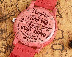 Great Gift For Husband Engraved Wooden Watch | by HeavenKP on Zibbet