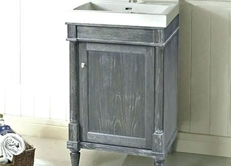 189 Bathjoy 20 Inch Black Single Wood Bathroom Vanity Cabinet