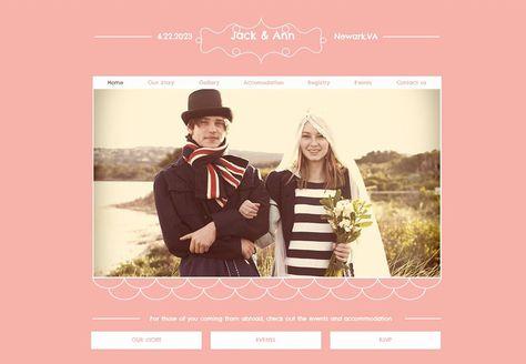 unforgettable wedding websites