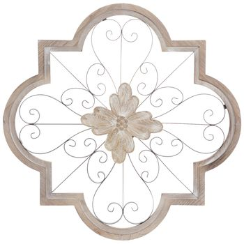 Whitewash Ornate Oval Metal Wall Decor In 2020 Carved Wood Wall Art Mirror Wall Art Mirror Wall Decor