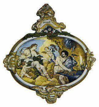 Cerámica De Ro Cocó Adornos Pintados Porcelana Rococó