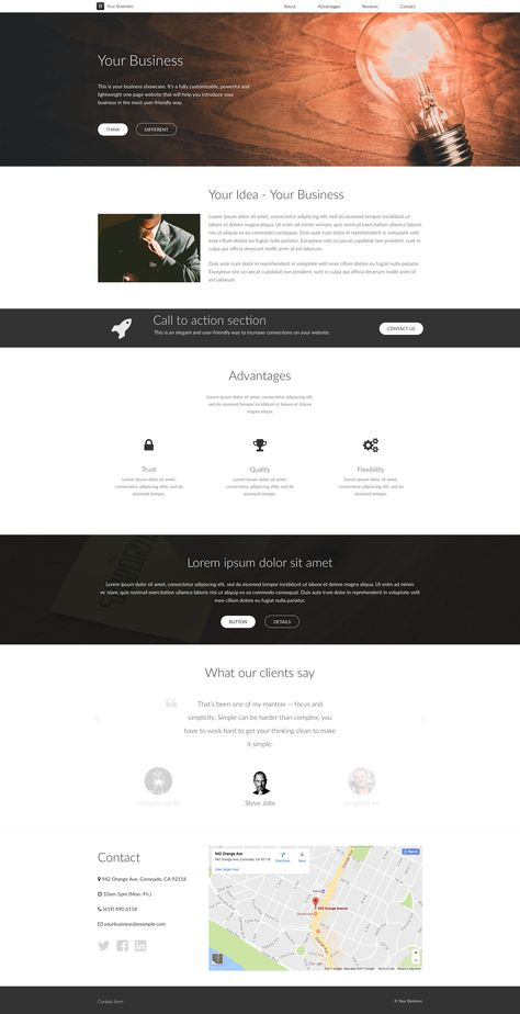 Your business is a free html5 one page website template which comes your business is a free html5 one page website template which comes with two different color style it will help you introduce your business in the most friedricerecipe Choice Image