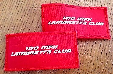 100 Mph Lambretta Club Embroidered Patch