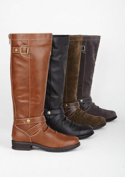 903df6c9810 Madden Girl Zuzu Boot from Delia's. Either cognac with red zipper or black  with blue zipper!   christmas ideas.   Shoes, Shoe boots, Fashion