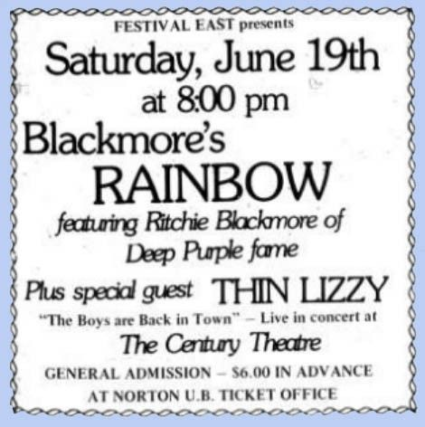 Pin By Sucheta On Concert Posters Concert Posters Ritchie Thin Lizzy