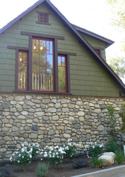 An Arts & Crafts Cottage Preserved | Exterior paint combinations, Window  and Exterior paint