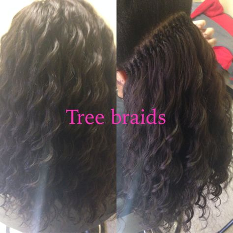 two layers will make it more fuller. cornrow tree is braided to your scalp. individual/ singles are not. Just know that if you have very fine or thin hair, braids may break your hair off so...