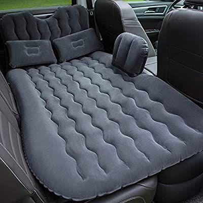 UK Inflatable Car SUV Back Seat Mattress Air Folding Bed Sleeping Camping