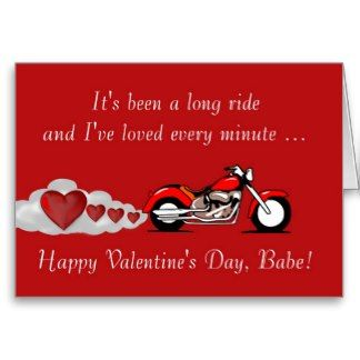 Happy Valentineu0027s Day Bikers | Happy Valentineu0027s Day With Motorbike For  Biker Greeting Card I Love You Jeff Webster | Motorcycles | Pinterest |  Bikers, ...