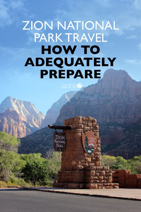 Travel dreams: How To Do Zion National Park (and Be Adequately Prepared) - Awesome! Capitol Reef National Park, Us National Parks, Canyonlands National Park, Yellowstone National Park, Banff National Park, National Forest, South Park, Sierra Nevada, Places To Go