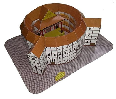 Globe Theatre of Shakespeare Paper Craft Model -- You can get additional details at the image link.
