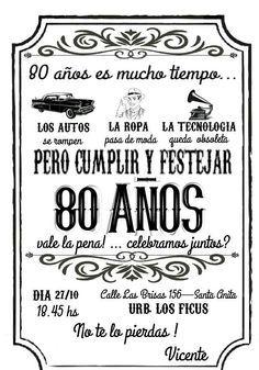 Pin De Cuqui Cevallos En 80 S Invitaciones De Cumple Años