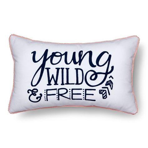 Wild & Free Throw Pillow 20x12